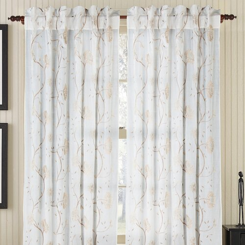 Gracious Living Regal Cotton Organdy Rod Pocket Drape Single Panel