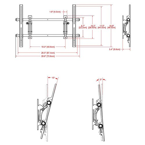 "Cotytech Tilt Wall Mount for 32"" - 63"" Plasma/LED/LCD"