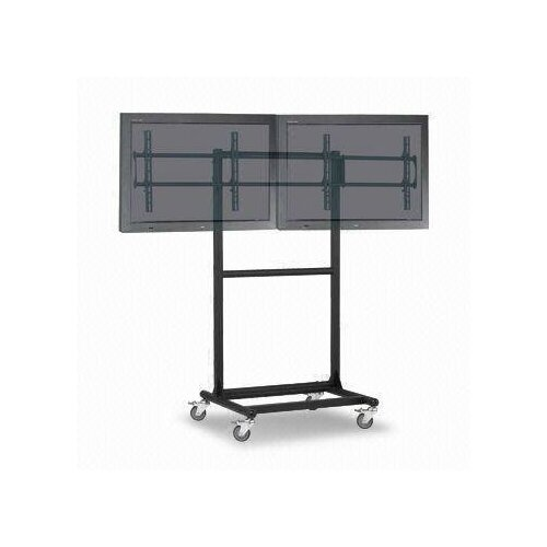 "Cotytech Adjustable Ergonomic Mobile Dual TV Cart for 32"" - 46"" Screen"