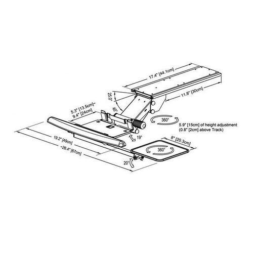 Cotytech Fully Adjustable Ergonomic Keyboard Mouse Tray