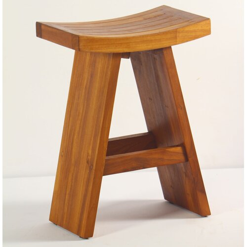Aqua Teak Asiana Teak Bistro Counter Height Stool