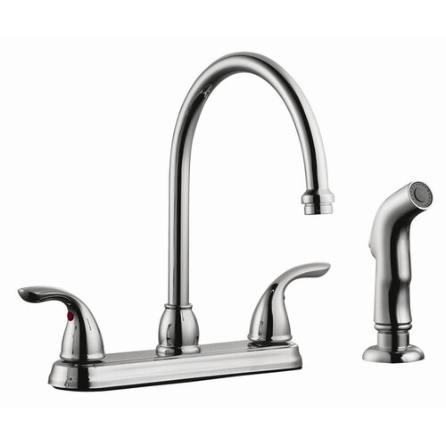 Ashland Double Handle High Arch Kitchen Faucet with Sprayer