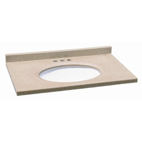 "Design House 31"" Solid Surface Vanity Top"