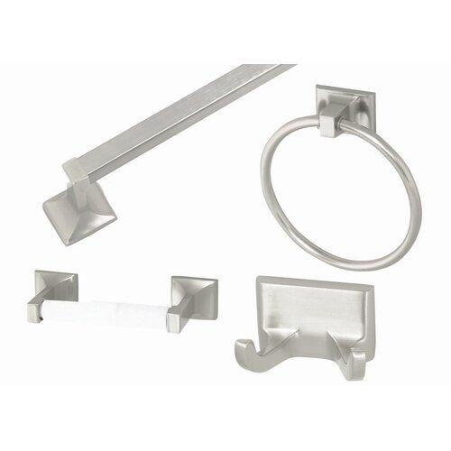 house millbridge 4 piece bathroom hardware set reviews wayfair