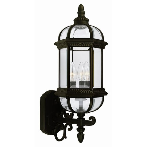 Design House Gateway 3 Light Outdoor Uplight Wall Lantern