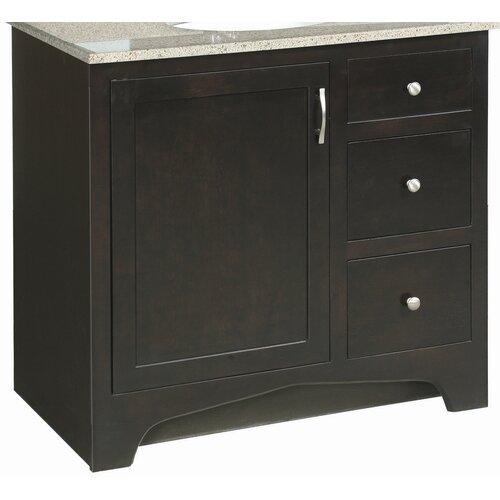 ventura 37 bathroom vanity base granite top and medicine cabinet set