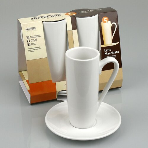 Konitz Coffee Bar 8 oz. Latte Macchiato Cup and Saucer