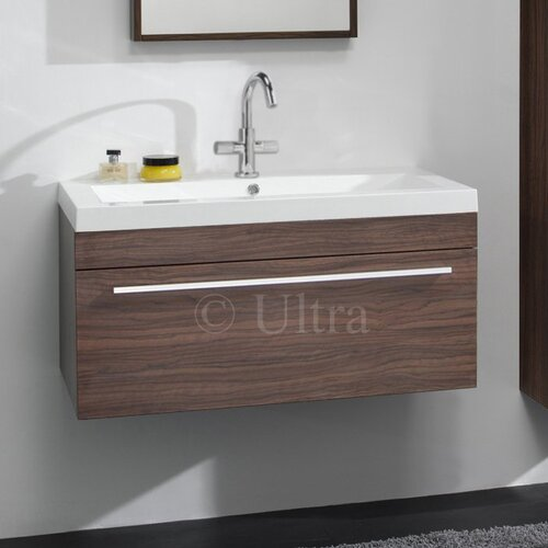 glide bathroom basin and cabinet in walnut wayfair uk