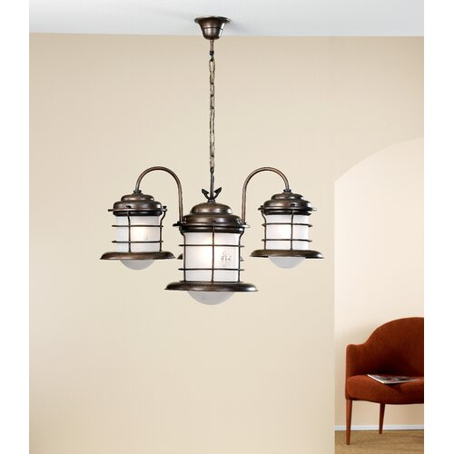 Lustrarte Lighting Nautic Caravela Four Light Chandelier