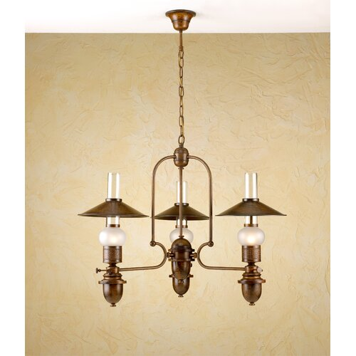 Lustrarte Lighting Rustik Velha Three Light Chandelier