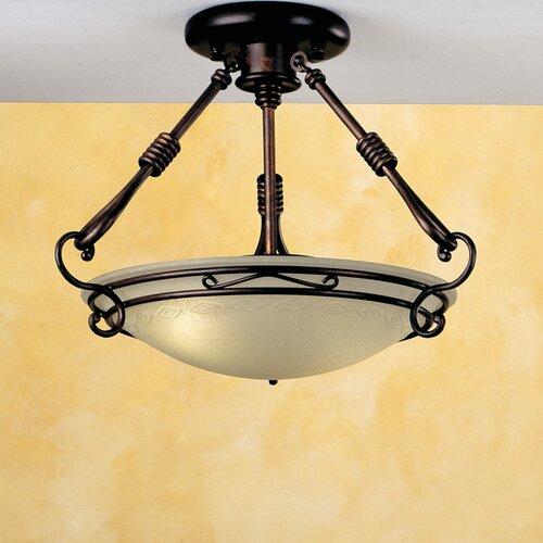 Lustrarte Lighting Modern Dali 2 Light Semi Flush Mount