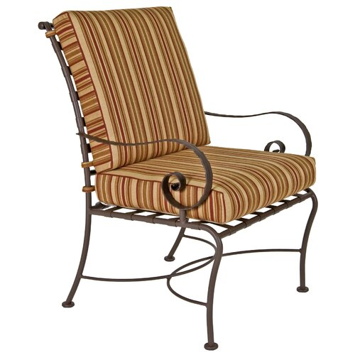 OW Lee Classico Club Dining Arm Chair with Cushion