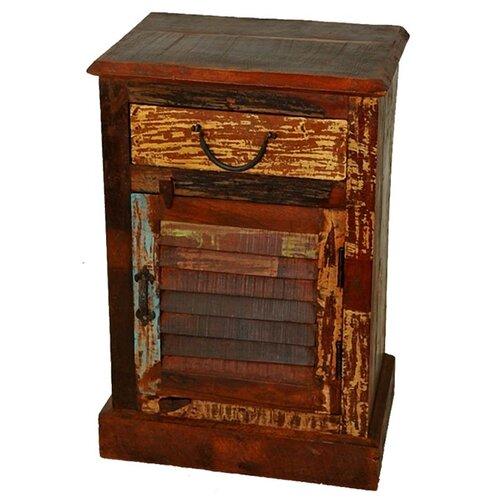 MOTI Furniture Beech 1 Drawer Nightstand