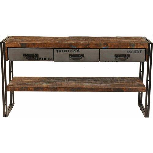 MOTI Furniture Addison 3 Drawer Console Table