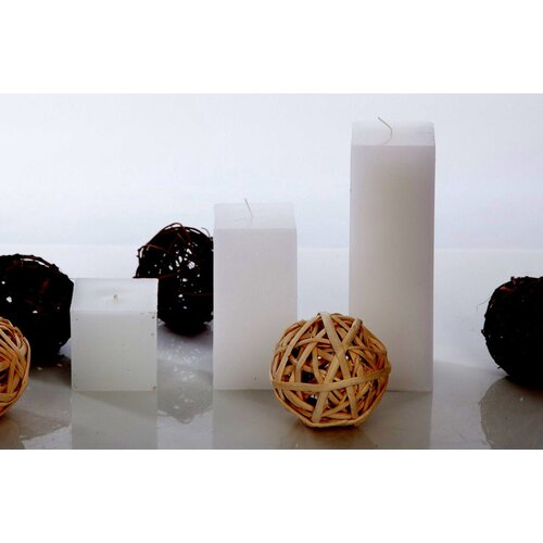 Light In the Dark Unscented Pillar Square Candle