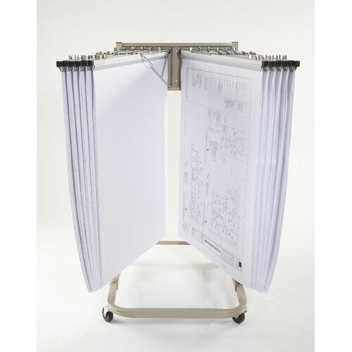 Brookside Design Vertical Mobile Rack Filing Cart