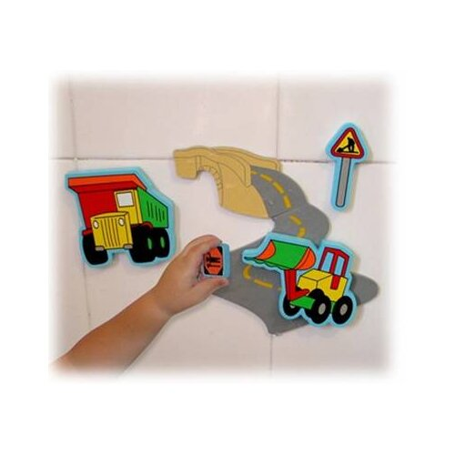 edushape Magic Creations Road Construction Bath Set