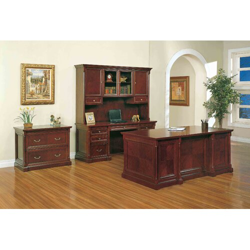Absolute Office Birmingham Kneespace Credenza with Center Drawer