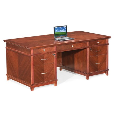 Absolute Office Cambridge Executive Desk with Built-In Center Drawe