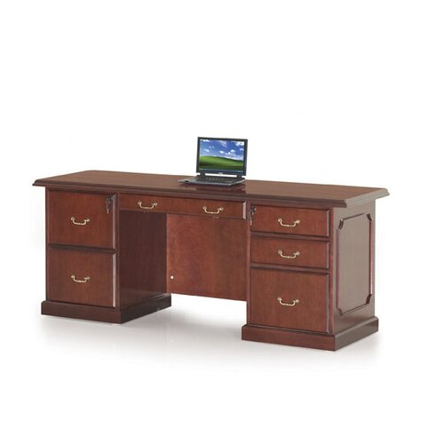Absolute Office Heritage Executive Desk with Center Drawer