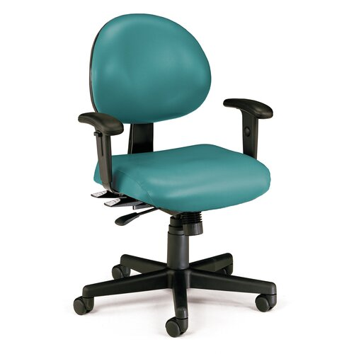 OFM Vinyl 24 Hour Computer Confrence Chair with Arms