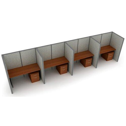OFM Privacy Station Panel System 1x4 Configuration