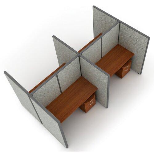 OFM Privacy Station Panel System 2x2 Configuration