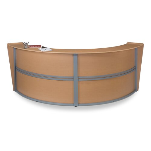 OFM Reception Furniture Double Unit Curved Station
