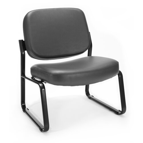 OFM Big and Tall Armless Vinyl Chair