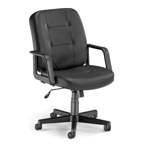 OFM Low-Back Leather Executive Conference Chair with Arms