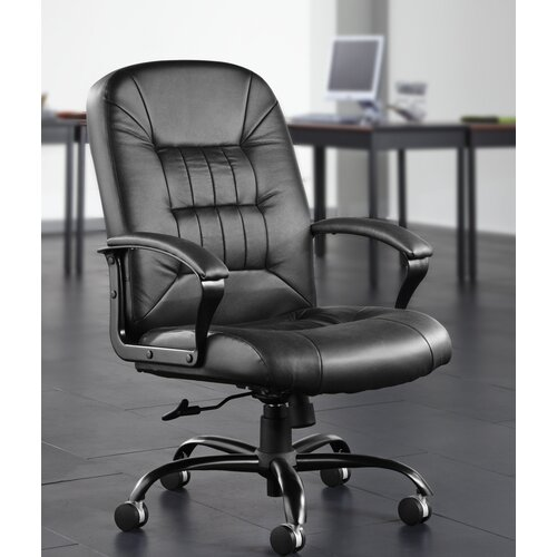 OFM Leather Back Big and Tall Office Chair with Arms