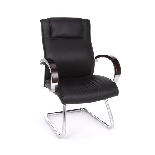 OFM Leather Chair with Sled Base