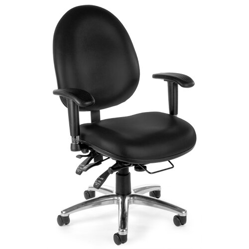 OFM 24 Hour Computer Mid-Back Confrence Chair