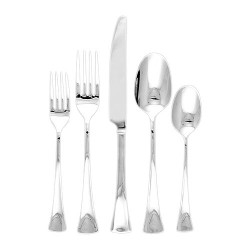 Ginkgo Woodruff 5 Piece Flatware Set