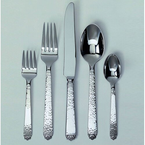 Ginkgo Oakleaf 5 Piece Flatware Set