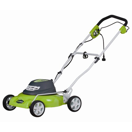 GreenWorks Tools 2-in-1 Lawn Mower with Mulch and Side Discharge