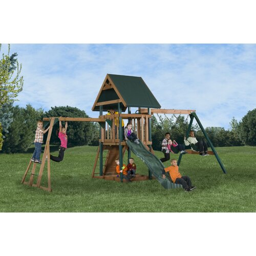Backyard Play Systems Mongoose Manor Deluxe Swing Set