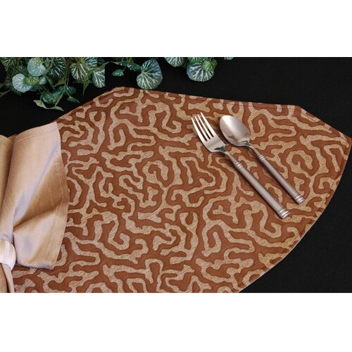 Pacific Table Linens Illusion Table Linens Reversible Wedge Placemat