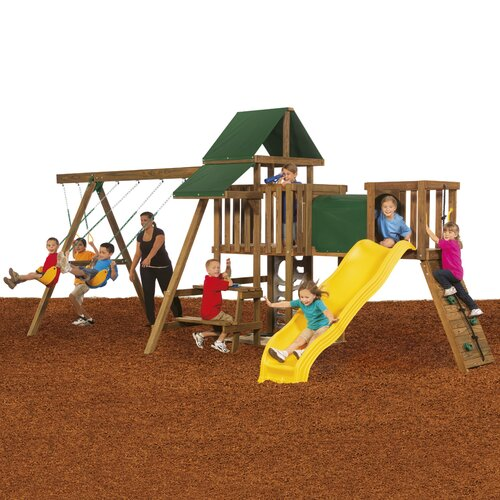 Playstar Inc. Rival Silver Swing Set
