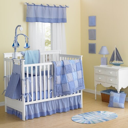 Laugh, Giggle & Smile Sailing Days 10 Piece Crib Bedding Set