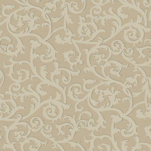 York Wallcoverings French Dressing Scroll Wallpaper