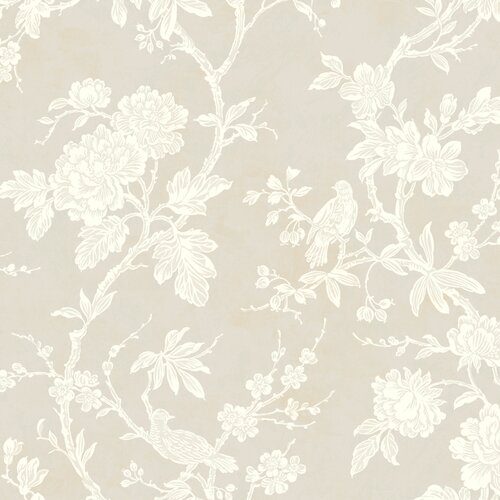 York Wallcoverings Natural Radiance Arlington Floral Botanical Wallpaper