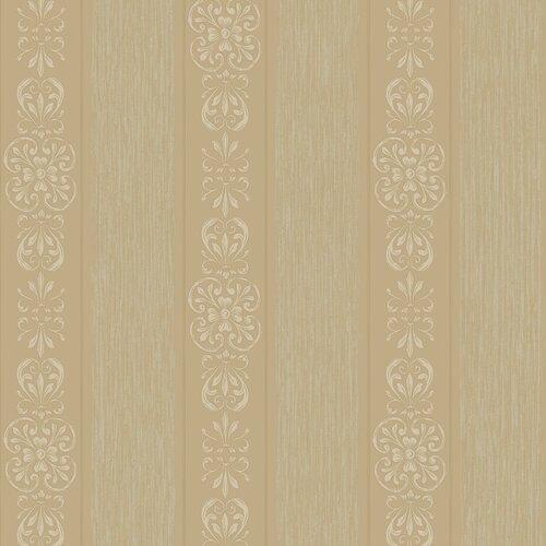 York Wallcoverings Royal Cottage Delicate Ironwork Stripe Wallpaper