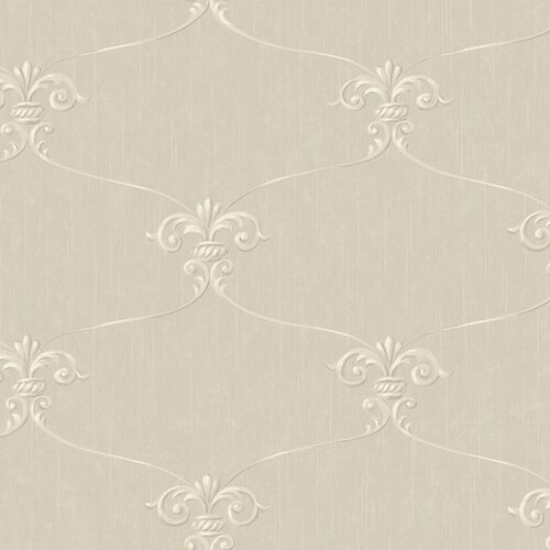 York Wallcoverings Royal Cottage Fleur Damask Wallpaper