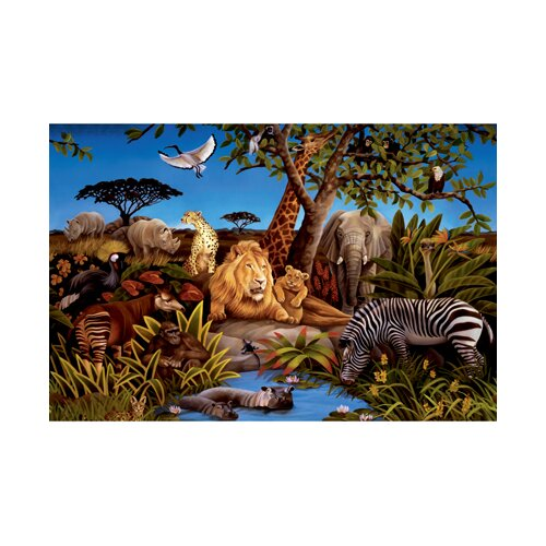 York Wallcoverings York Kids IV Chair Rail Jungle Wall Mural