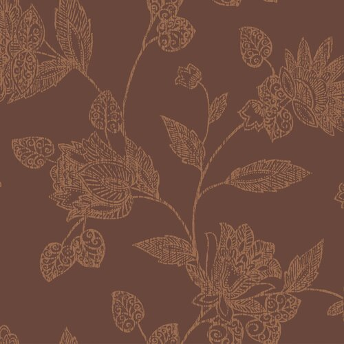 York Wallcoverings Tommy Bahama Jacobean Block Print Floral Botanical Wallpaper