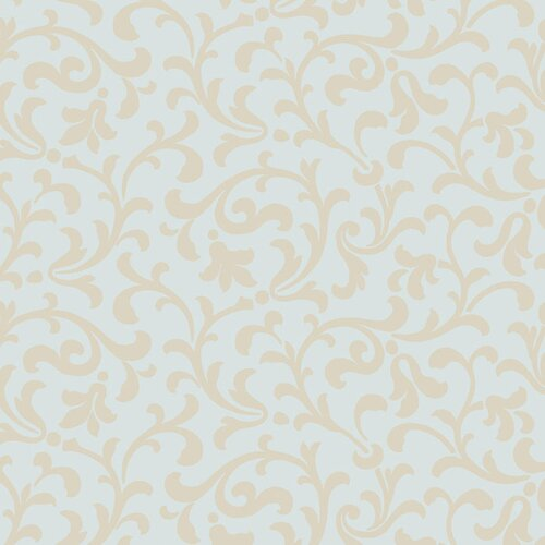 York Wallcoverings Candice Olson II Dimensional Surfaces Printed Leaf Scroll Wallpaper