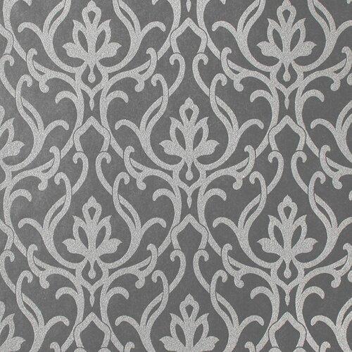 York Wallcoverings Candice Olson Shimmering Details Dazzled Damask Wallpaper