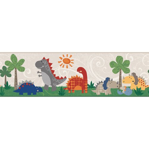York Wallcoverings Peek-A-Boo Babysaurus Wallpaper Border