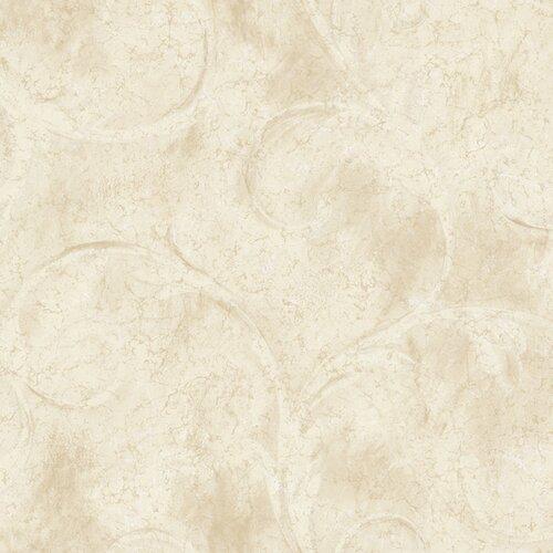 York Wallcoverings Aged Elegance II Athena Scroll Wallpaper